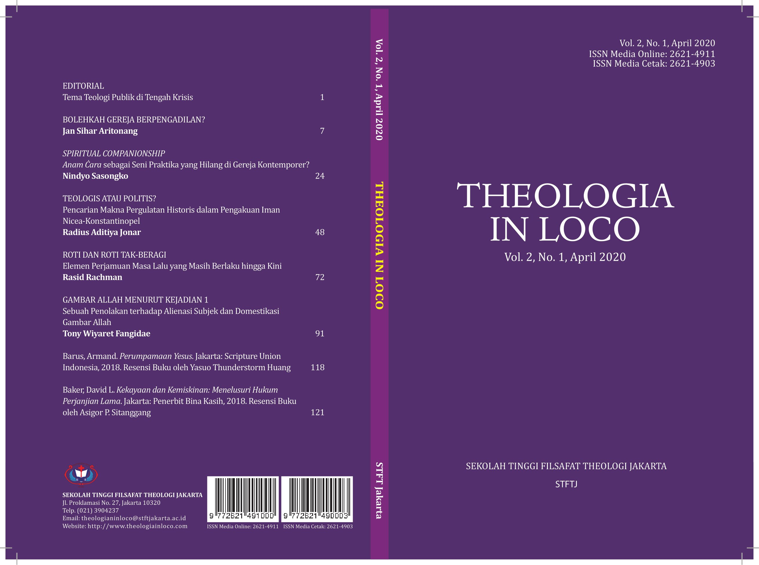Theologia in Loco Vol. 2 No. 1 April 2020
